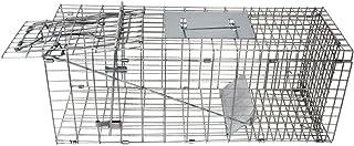 Humane Single Entry, Non-Foldable Animal Cage Trap (Black,White)