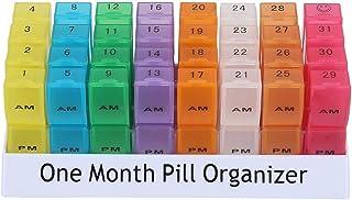 防水 薬入れ ピルオーガナイザー1ヶ月の丸薬箱午後31日目の毎日32個の区画旅行薬オーガナイザーピルディスペンサー容器ビタミン薬を保持する1ピース 1AI4AIDA-12-02P