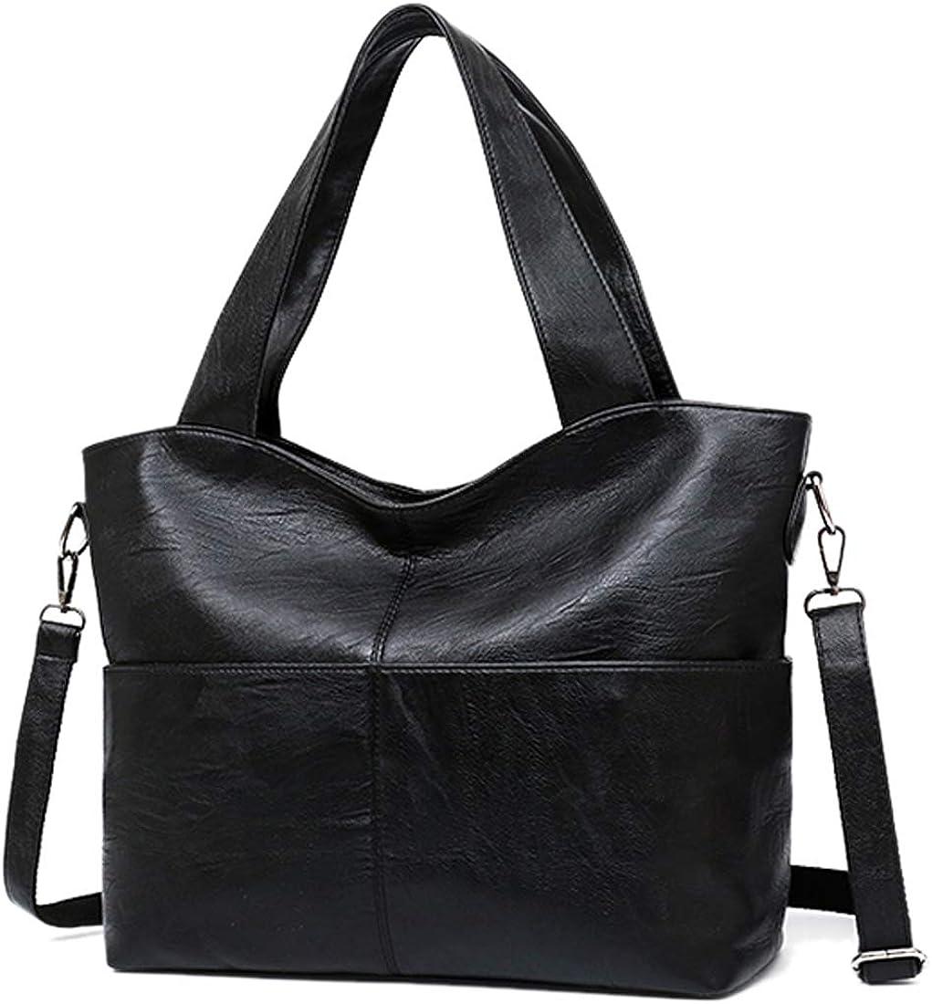 Alovhad Women Handbags Purse PU Leather Tote Shoulder Bags Big Satchel Zipper Crossbody Hobo Bags Three-use Handbag