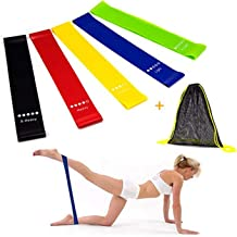 6Pcs Resistance Bands Exercise Bands for Woman Yoga Resistance Loop Bands for Legs and Butt Workout Bands for Home GYM Fitness 5 Set with Bag