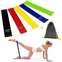 6 قطع أربطة مقاومة لممارسة تمارين اليوجا للنساء أربطة لأرجل و زوايا للتمارين الرياضية للمنزل GYM مجموعة 5 مع حقيبة