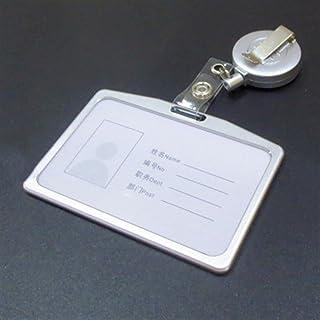 1 Définir le porte-carte d'identification d'alliage d'aluminium Badge rétractable BODGE BODGE POUVOIR DE BADGE D'ID DE BAD...