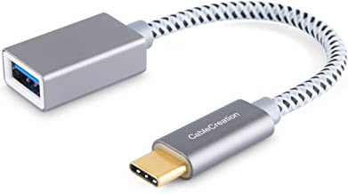 CableCreation USB C to USB Adapter, 0.5 Feet USB-C to USB-A 3.0 Female Adapter OTG (on-The-go) Cable, Compatible with New MacBook (Pro), Dell XPS 13/15, Galaxy S10/S9/S8 etc, Space Gray