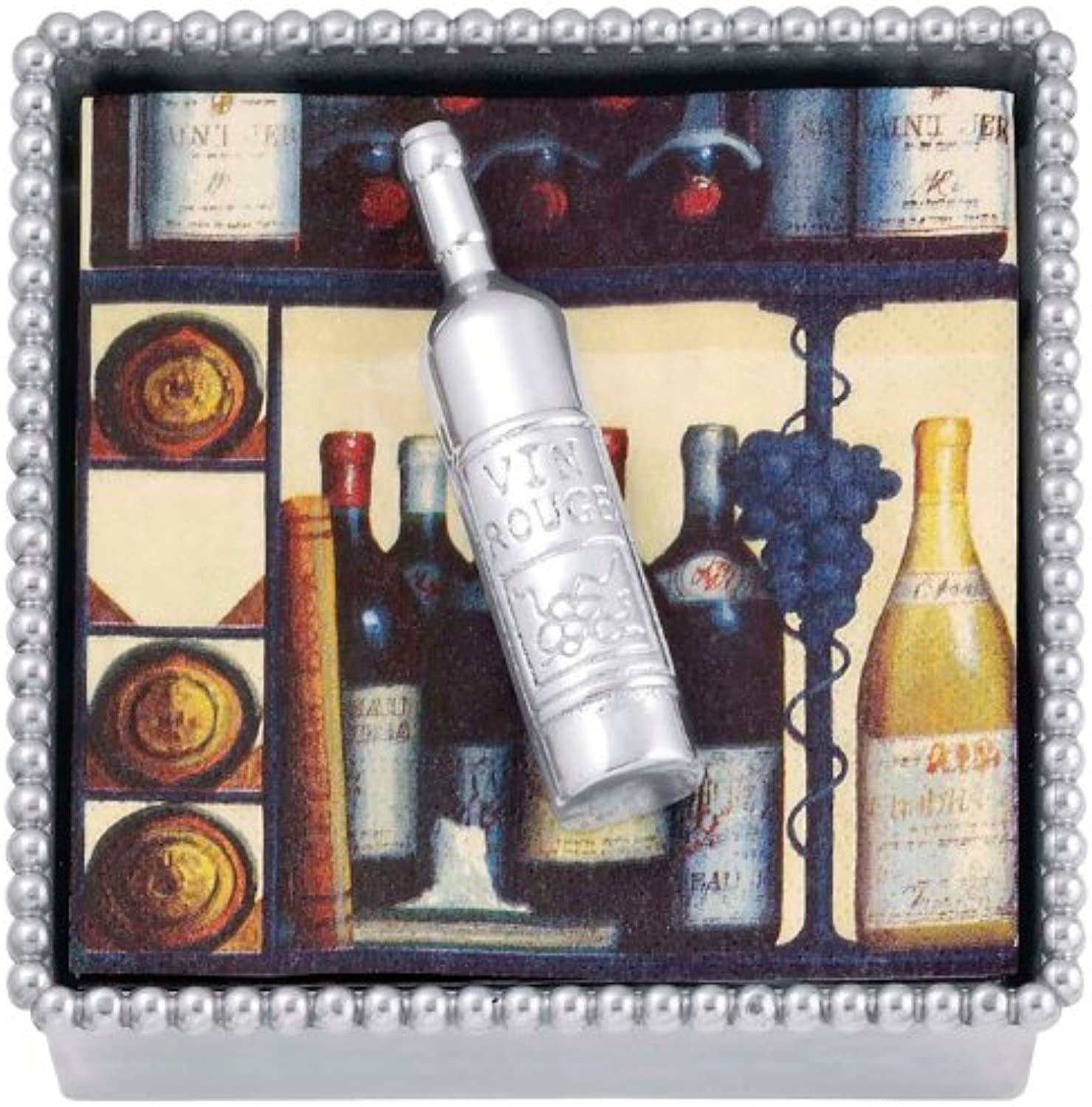 Mariposa - Let's Celebrate - Wine Bottle Beaded Napkin Box