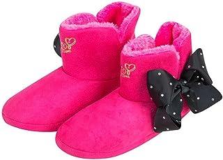 0256399f27015 JoJo Bows Slippers Signature Collection Bows Ballerina OU Bootie  Slipper-Meilleur Cadeau de Noël pour