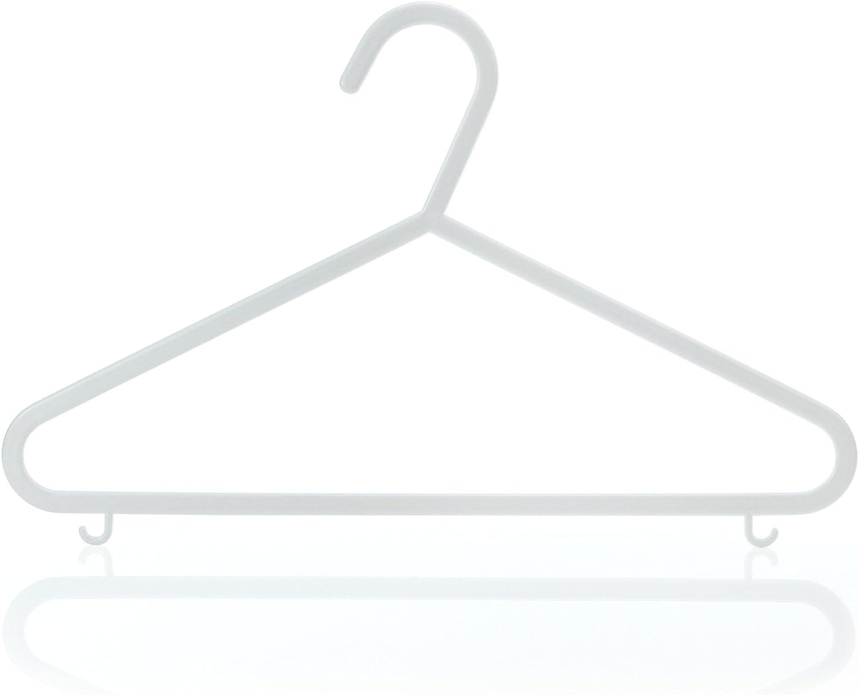 HANGERWORLD 54 Max 42% OFF White 11.8inch Max 89% OFF Plastic Clothes Coat Kids Garment