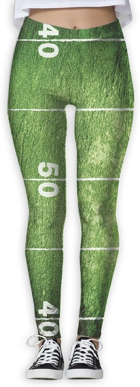 EWDVqqq Women Girl Yoga Pant Football Field High Waist Fitness Workout Leggings Pants