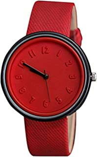 Womens Quartz Watches,COOKI Unique Analog Fashion Clearance Lady Watches Female Watches on Sale Casual Number Watches for Women,Round Dial Case Comfortable Canvas Watch-H11