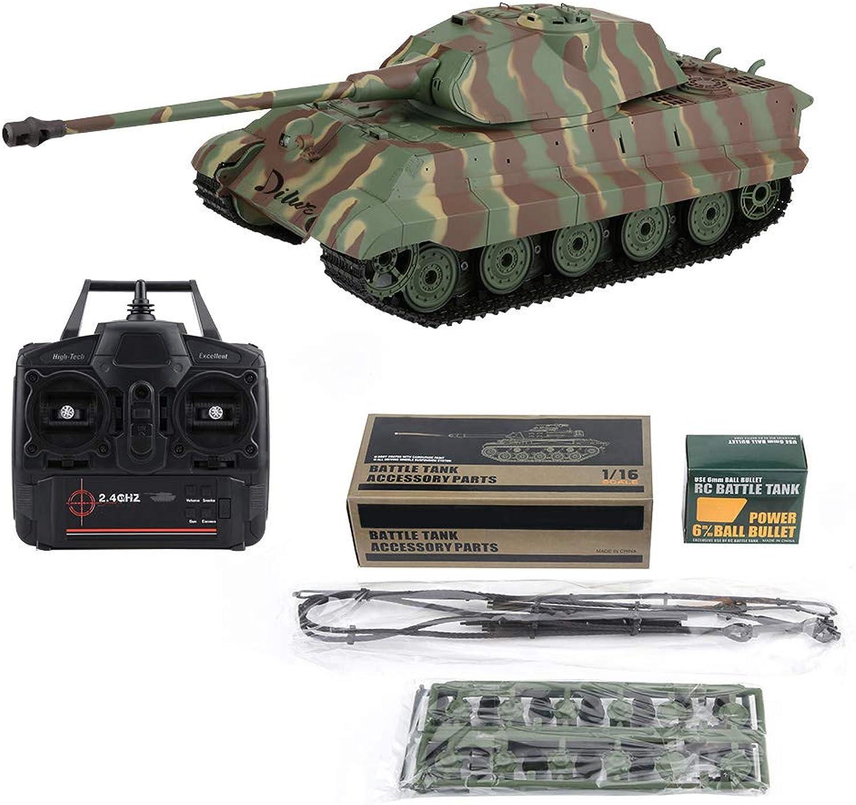 Dilwe RC Panzer Spielzeug, 2,4 GHz 1 16 Radio ferngesteuerte Simulation Armee Kampfpanzer Kit Modell mit Drehender Türmchen für Kinder Geschenke B07GDH825M Charmantes Design   | Ein Gleichgewicht zwischen Zähigkeit und Härte