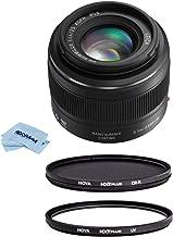 Panasonic Lumix G Leica DG Summilux Lens, 25mm, F1.4 ASPH, Mirrorless Micro Four Thirds, H-X025 (USA) Bundle with Hoya NXT Plus 46mm 10-Layer HMC Multi-Coated Circular Polarizer + UV Lens Filter