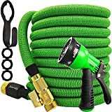 Junredy Garden Hose 25ft Expandable Water Hose with 8 Function Nozzle Sprayer,...