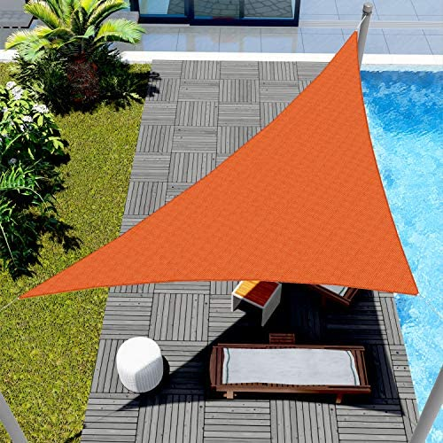 Windscreen4less 24 x 24 x 33 9 Triangle Sun Shade Sail Solid Orange Durable UV Shelter Canopy product image