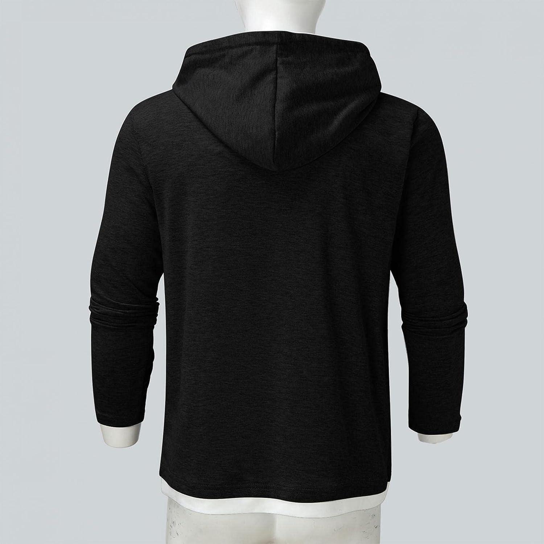 Hoodies for Men Men's Autumn Slim Casual Patchwork Hooded Long Sleeve Sweatershirt Top Fashion Hoodies And Sweatshirt Blouse