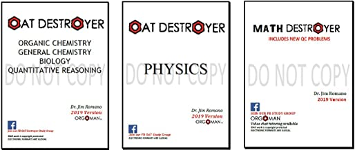 2019 OAT Destroyer OAT Physics 2019 Math Destroyer - Direct from Orgoman!