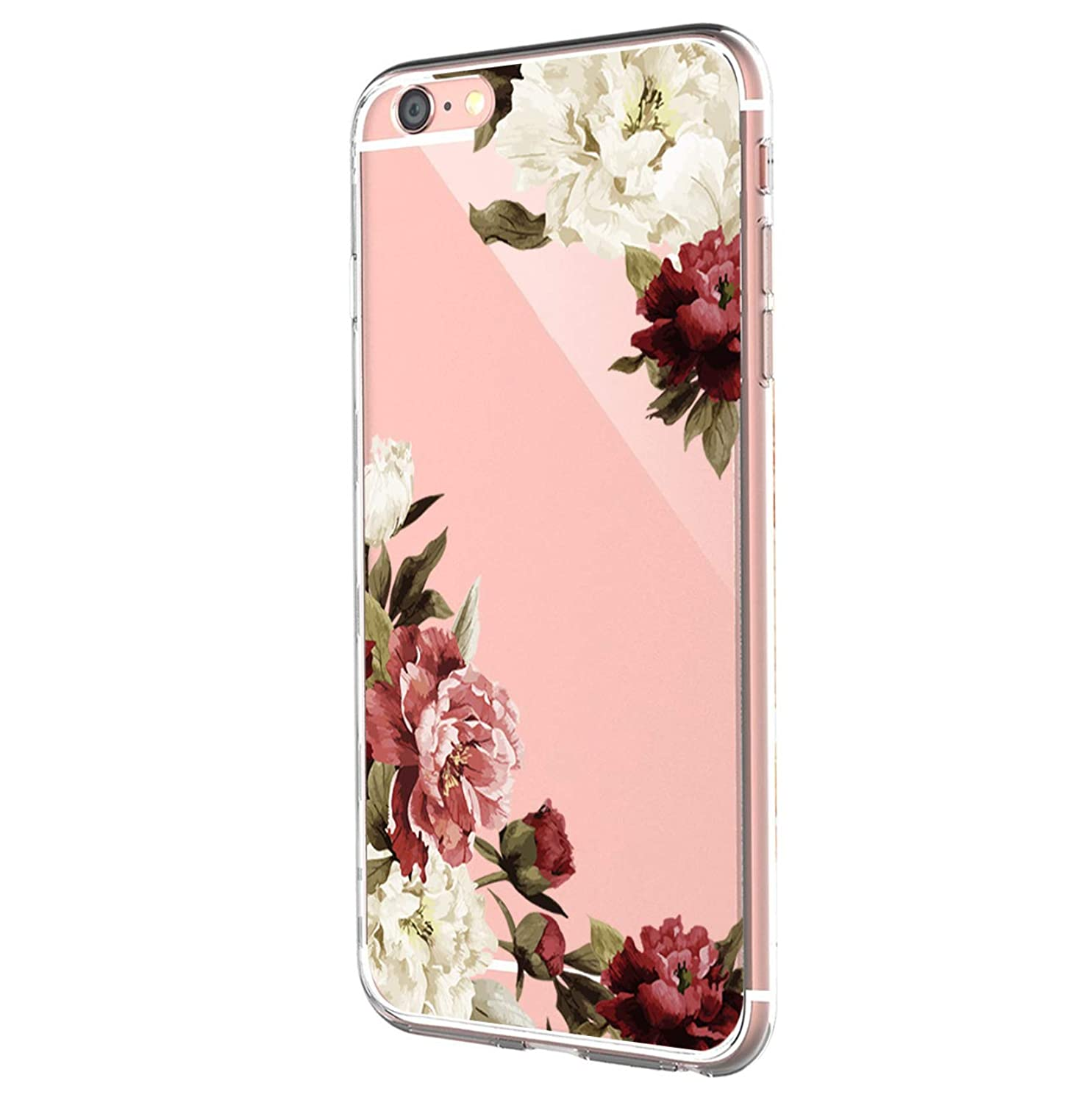 Case Compatible with iPhone6s Case, iPhone 6 Case Soft TPU Art Pattern Case for iPhone 6/6S (Tropical Palm Tree Leaves)