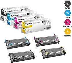 CS Compatible Toner Cartridge Replacement for HP 501A & 503A HP COLOR LASERJET 3800DN 3800DTN 3800N CP3505 CP3505N CP3505DN CP3505X Q6470A Black Q7581A Cyan Q7582A Yellow Q7583A Magenta 4 Color Set