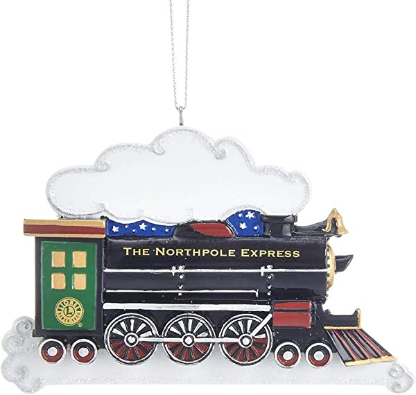 Kurt Adler 2 87 Inch Lionel North Pole Express Train Hanging Ornament For Personalization