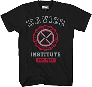 Avengers X-Men Professor Xavier Institute Logo Fantastic Four X-Force Adult Mens Graphic Tee T-Shirt Black