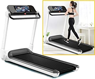 Folding Electric Motorised Treadmill, Walking Running Machine with Hand Grip and LCD Screen for Fitness Exercise Cardio Jogging