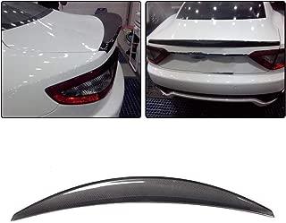 JC SPORTLINE fits Maserati Gran Turismo Coupe 2-Door 2008-2011 Rear Trunk Boot Lid Spoiler(Non Convertible)(Carbon Fiber)