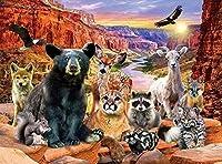 クロスステッチプレプリント野生動物40x50cmプレプリント刺繍キット刺繍パターン画像刺繍14CTDIY(プレプリントキャンバス)