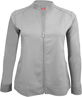M&M Scrubs Women's Ultra Soft Front Zip Warm-Up Scrub Jacket