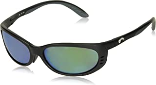 Fathom Sunglasses Matte Black Global Fit/Green Mirror 580Glass