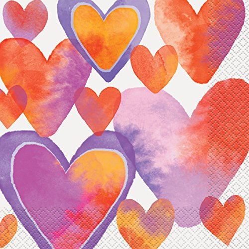 Waterkleur Valentijn Hart Feestartikelen Papieren servetten