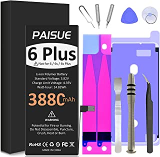 Battery for iPhone 6 Plus, 3880mAh High Capacity Li-ion Replacement Batteries 0 Cycle with Complete Repair Tool Kits and A...