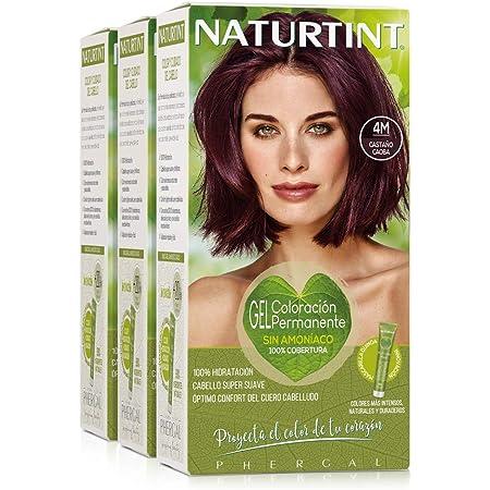 Naturtint Coloración 4M Castaño Caoba   Tinte sin Amoniaco   100% Cobertura de canas e Hidratación   Ingredientes y Aceites Vegetales   Color Natural ...