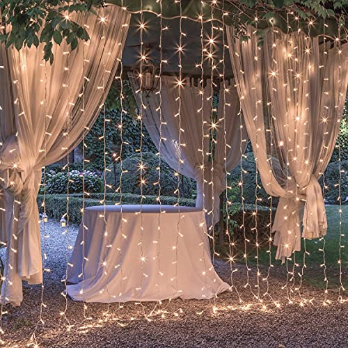 Curtain Lights for Decorations, 10 Ft Connectable String Lights with 8 Twinkle Modes Led Fairy Lights for Bedroom, Outdoor String Lights for Party Wedding Decorations Indoor Twinkle Lights for Window