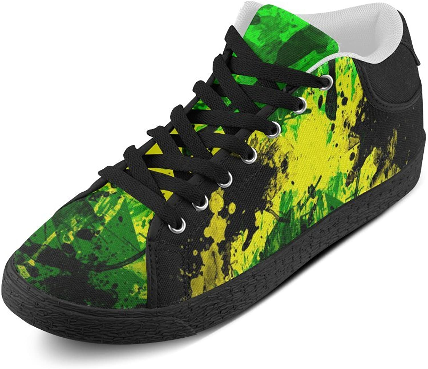 N.Y.L.A. ADE Flags Jamaica Hgh Contrast Image Women's Chukka Canvas shoes M003