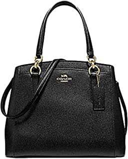 Coach Crossgrain Leather Minetta Crossbody Handbag IM/BLK Black