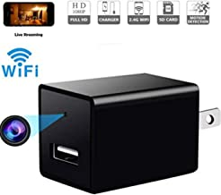 Fifi Cam Hidden Spy Camera-1080P HD Baby Camera- Home Covert Surveillance Cam -WiFi Wall Charger Spy Camera- Mini USB Nanny Cam -Motion Detection Alert - Live Remote Video Viewing with Phone APP