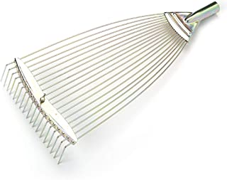 Outgeek Rake Head Metal Rake Head Lawn Gardening Tool for Yard Garden