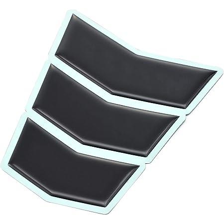 デイトナ バイク用 傷防止シール タンクパッド 3ピース Lサイズ ブラック 94873