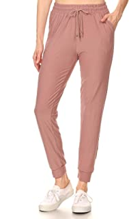 Women's Juniors Soft Jogger Pants Drawstring Pockets