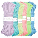 Craft County Glow in The Dark Zesty 21 Strand Luminous 550 Paracord – for DIY Bracelets, Lanyards, and Jewelry (Green, 100 Feet)