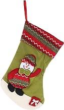 VICASKY 1 peça de meias de Natal de pano para doces, sacos de presente, meias de pendurar para lareira em família para dec...