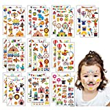 ZoomSky 200Pcs Clown Temporäre Kindertattoos Zirkus Kinder Tattoos Mädchen Tier Sticker Löwe...