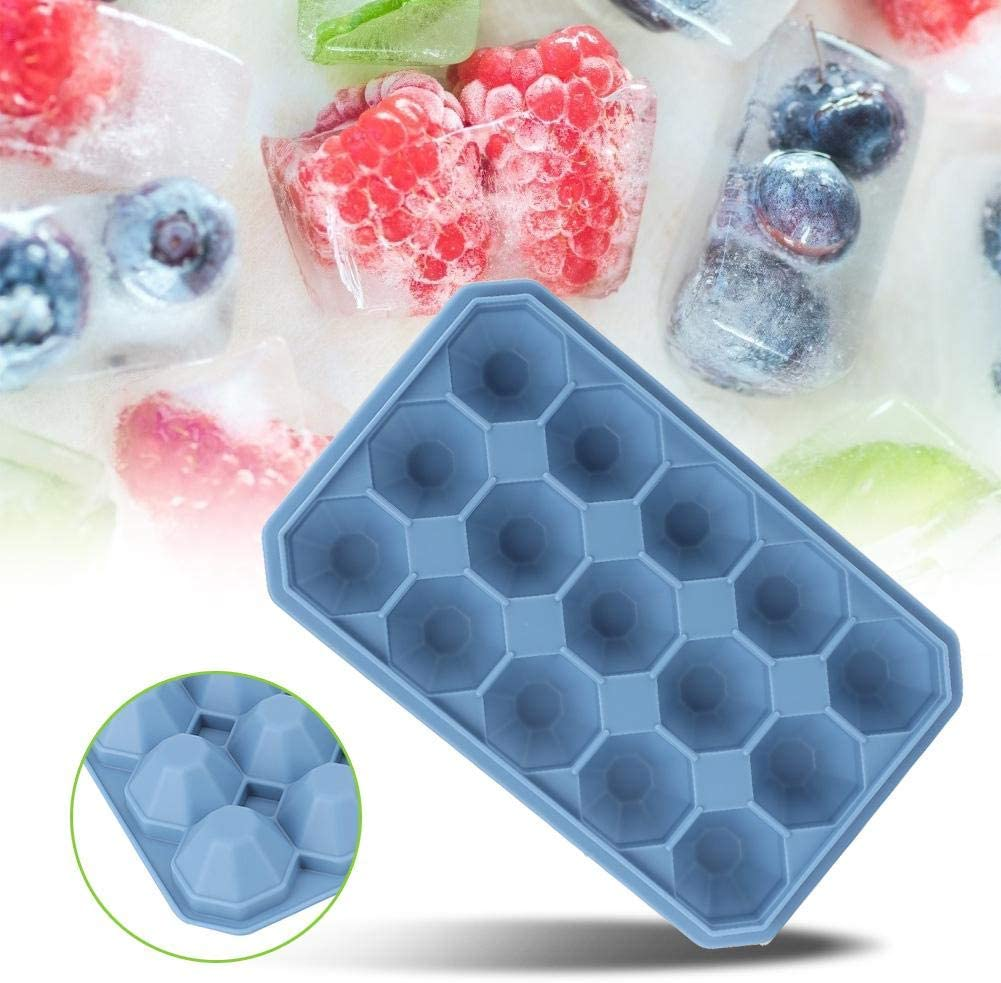 Ice Cube Tray with Lid DIY Max 68% OFF Freeze Pud 15Grids Silicone Seattle Mall