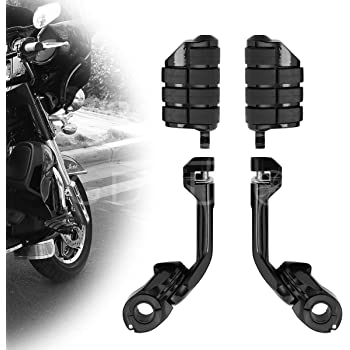 Highway Pegs Motorcycle Footpegs Foot Rest(Black) for Harley Honda Road King Street Glide Suzuki Yamaha Kawasaki Engine Guard