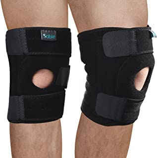 Knee Brace Open Patella Support Stabilizer 2 Pack Sleeves, FDA R