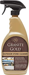 Granite Gold Outdoor Stone Cleaner Spray Deep Cleans Outside BBQ Islands, Kitchens and Tables, Counters-Safe on Food-Prep Surfaces-Made in the USA, 24 Ounces