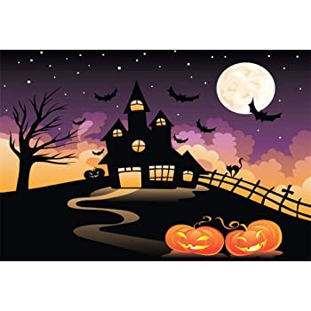 10x8ft Halloween Christmas Eve Pumpkin Jack Theme Birthday Baby Shower Photo Gallery Birthday Party Wallpaper Studio Wedding Cloth Family Portrait Background Cloth