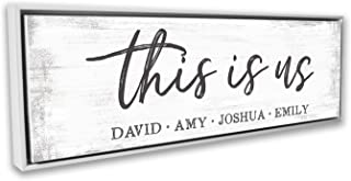 Pretty Perfect Studio Custom This is Us Sign, Personalize Family Names on Canvas Wall Art   10