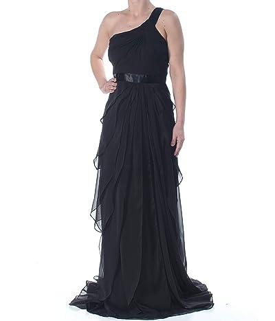 Adrianna Papell Bead Crepe Long Dress