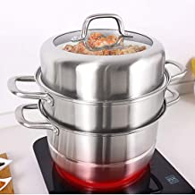 MSWL Pot, stainless steel steamer, stockpot, large capacity pot. Multi-layer pot, large steamer, electric steamer, single-...