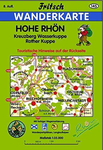 Hohe Rhön: Kreuzberg, Wasserkuppe, Rother Kuppe (Fritsch Wanderkarten 1:35000)