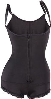 Everbellus Mujeres con Cremallera en el Frente Adelgazamiento Cinturón de Cintura Corsé Shapewear Bodysuit